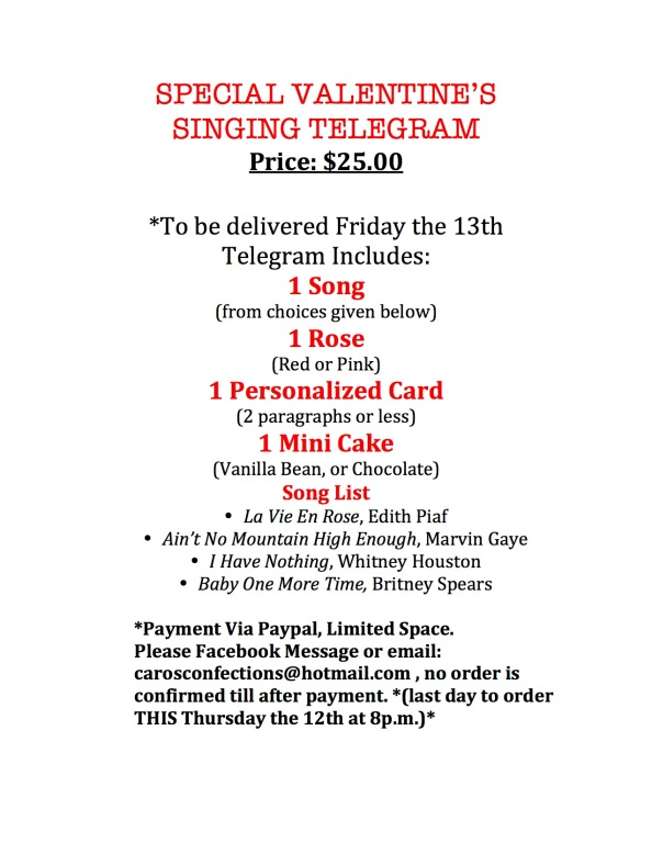 SPECIAL VALENTINE'S SINGING TELEGRAM